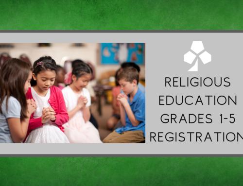 R.E. Grades 1-5 Registration